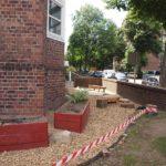 Seit kurzem ist der Vorgarten begehbar