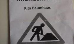Mitmachaktion auf dem Außengelände der Kita Baumhaus in Eppendorf