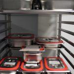 Lagerung im Kühlraum nach Schockkühler