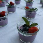 Dessert mit Heidelbeeren